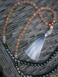 brown and black beaded mala necklace Huntsville, 35801