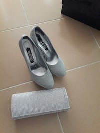 Women's gray and silver vitareew stilettos