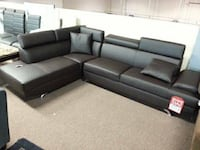 New Dark Brown Sectional Couch Sofa VANCOUVER