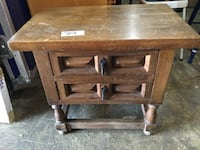 brown wooden 2-drawer end table Alexandria