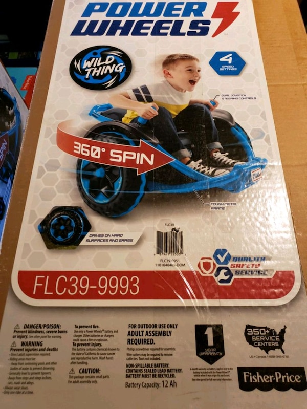 Power Wheels Wild Thing   Blue  Brand new in box