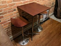 Retro Card Table (with adjustable bar stools!) Baltimore, 21230