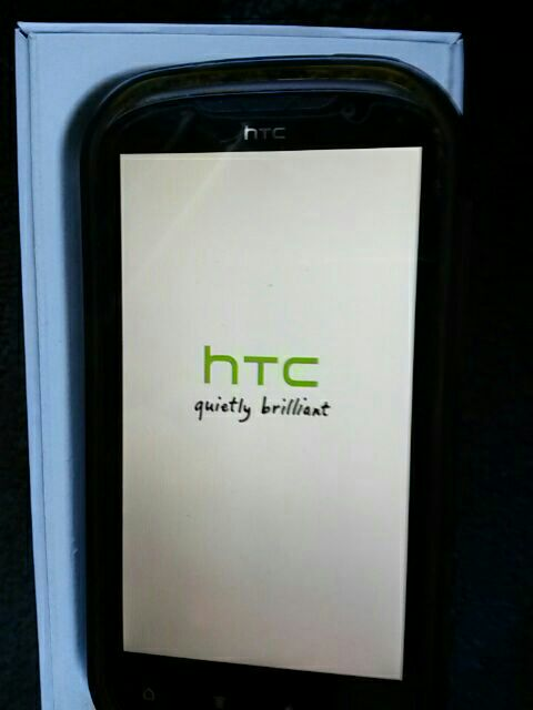 black HTC android smartphone in box