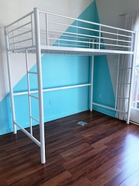 Taylor & Olive Abner White Metal Twin Loft Bed Baltimore, 21202