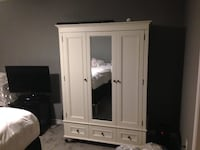 $2800 Pottery Barn Chelsea Armoire with Mirror - $1000 Sterling, 20165