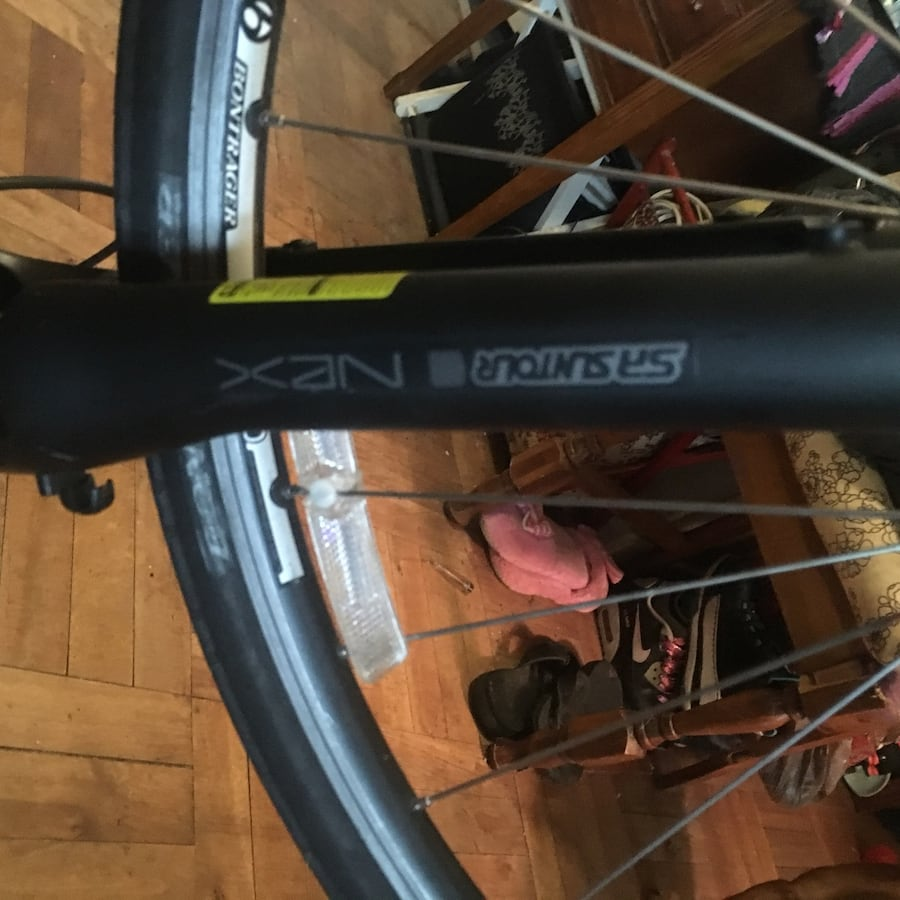 Bike for sale, have front tire and the other brake needs attached fd30679f-ee7d-40a3-8bd9-30f997149208