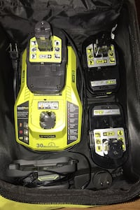 RYOBI Fast Charger with 3-Batteries and Bag Islip Terrace, 11752