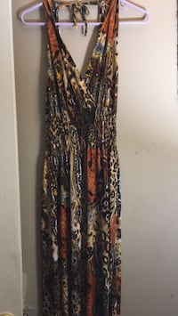 Women's brown and black floral sleeveless dress Capitol Heights, 20743