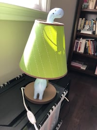 Dinosaur lamp with on/off switch on cord. Great for baby's room. EUC Oakville, L6H 1L8