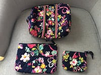 Vera Bradley 3 pc Makeup Bags with Lining - Ribbons Pattern Woodbridge, 22192