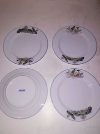 white and green floral ceramic plates West Columbia, 29169