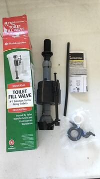 224.-Gray and black Fluid master universal toilet fill valve with box