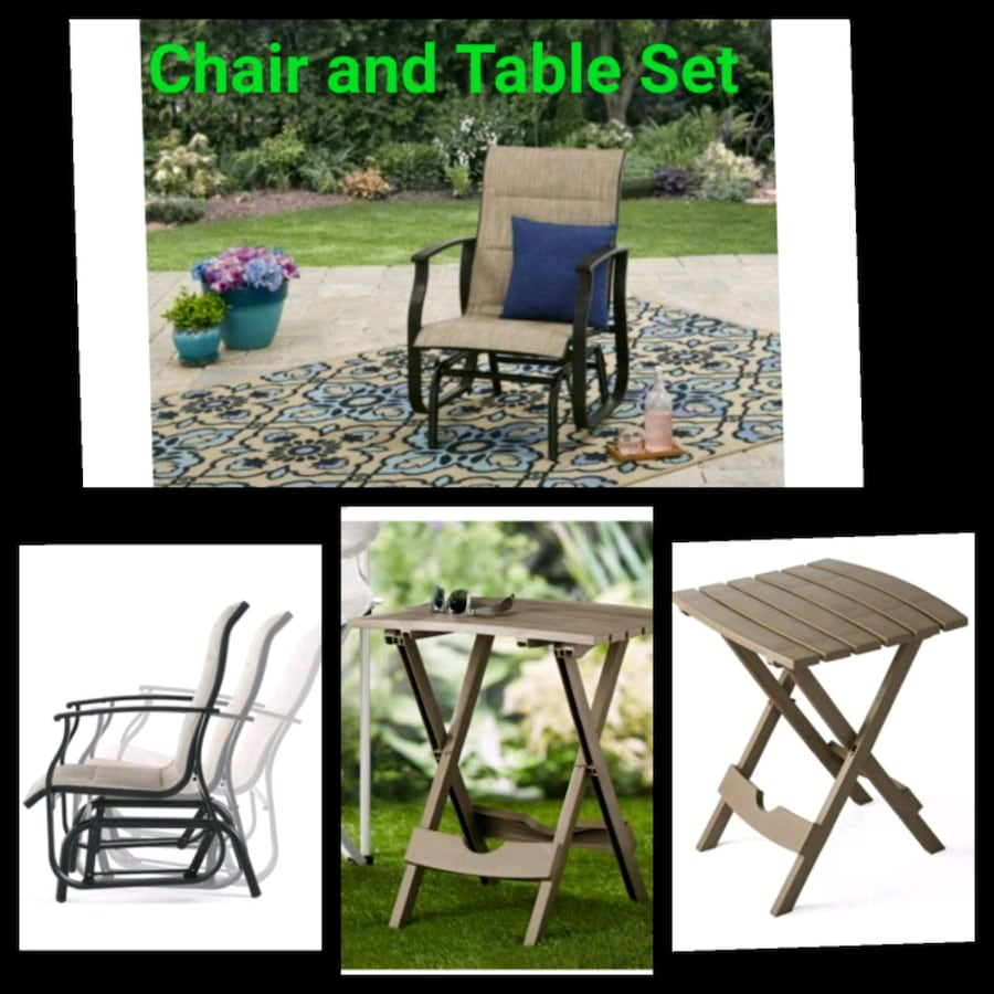 Patio furniture set for BBQ barbecue outdoor chair