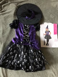 Witch Halloween Costume- Skull Witch- M (8-10) Federal Way, 98023