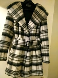 black and white plaid coat Oakville