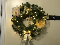 brown and green wreath with wreath