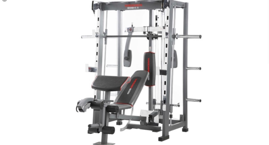 Used all in one complete home gym with weights for sale in new