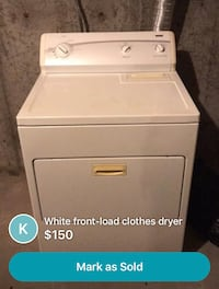 white front-load clothes dryer screenshot Cheney