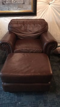 Leather chair with ottoman Purcellville, 20132