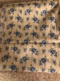 Yellow floral fabric 1/2+ yards.