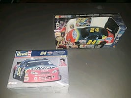 Jeff Gordon model and remote control racer $25