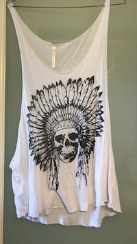 white and black floral tank top North Vancouver, V7N 3A8
