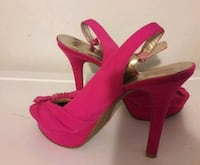 pink open toe platform stilettos size 9 Washington, 20019