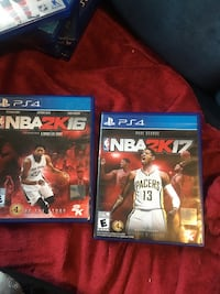 Two nba 2k16 and nba 2k17 ps4 game  Kitchener, N2H 2Z1