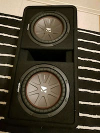 """black and gray Kicker subwoofer 10"""""""""""