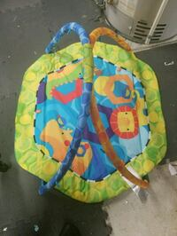 baby's green and blue activity gym