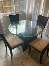 Round Glass Top Kitchen Table