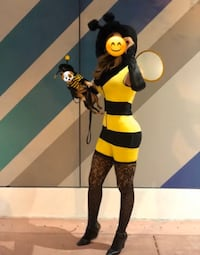 Dog and women Halloween bumble bee costume  Miami, 33131