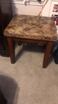 square brown marble top table Austin, 78747