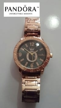 round gold-colored Rolex analog watch with link bracelet Carteret, 07008