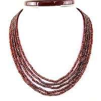 Rich deep red unheated Royal Garnet strings 5. From Asia 250.00