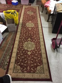 brown and red runner rug