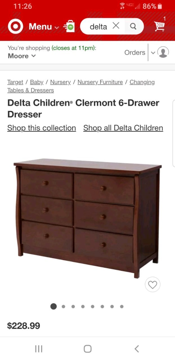 Delta 4 In 1 Crib With Matching Dresser