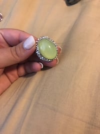 silver-colored ring with white gemstone Lafayette, 70506