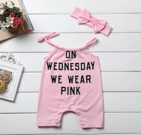 Cute Pink Baby Onesie - On Wednesday We Wear Pink Brampton, L6Y 3B8