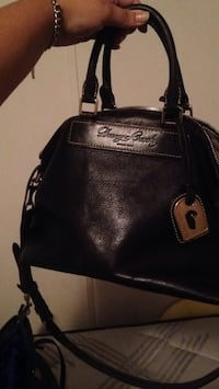 black leather Michael Kors handbag Augusta, 30815