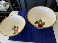 two white ceramic plates with bowls Bullhead City, 86442