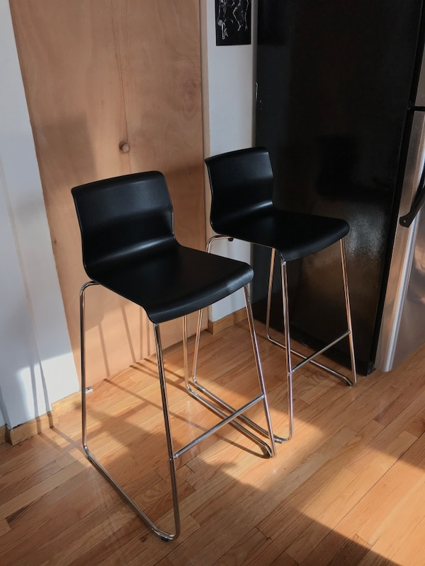Outstanding Two Black Ikea Glenn Bar Stools Gmtry Best Dining Table And Chair Ideas Images Gmtryco