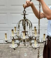 Solid Brass Chandelier with crystals Kings County
