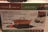"Copper Chef XL Precision Induction Cooktop and 11"" Casserole Kit Alexandria, 22314"