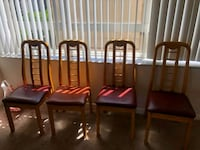 4 Wooden chairs Los Angeles, 90012