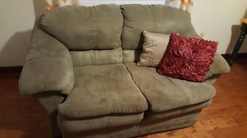 Loveset Microfiber Olive GREEN [loveseat]
