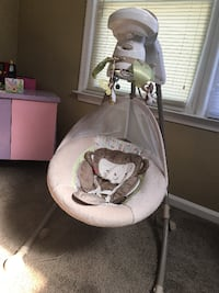 baby's white and gray cradle n swing PORTSMOUTH