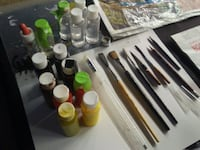 Art supplys - 4 Pinstriping & sign paint brushes +