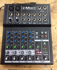 Mix 8 channel compact mackie mixer pre owned  Baltimore, 21205