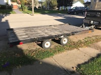 6x12 tandem axle flatbed trailer , tires and bearings just serviced, new 1000 pound tongue jack with wheel, all lights are working, Jack's at the rear of trailer for loading, North Perth, N4W